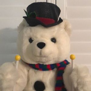 Christmas Skiing Teddy Bear